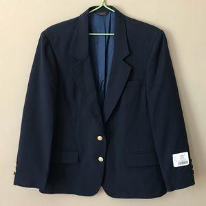 ❤️Lady Edwards Dark Blue Wool Formal Blazer 14R❤️